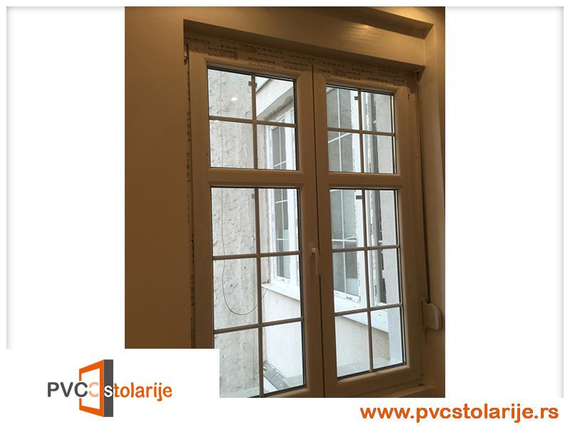 Dvokrilni PVC prozor ugradnja - 120/180, ALU roletna - rehau