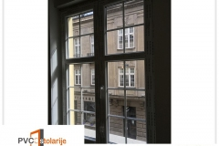 Dvokrilni PVC prozor ugradnja - 140/180, ukrasne lajsne, električna roletna, rolo komarnik, - rehau