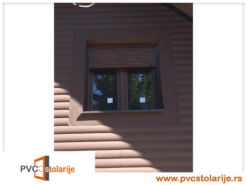 Dvokrilni PVC prozor ugradnja - 140/160, imitacija starog hrasta - rehau ecosol