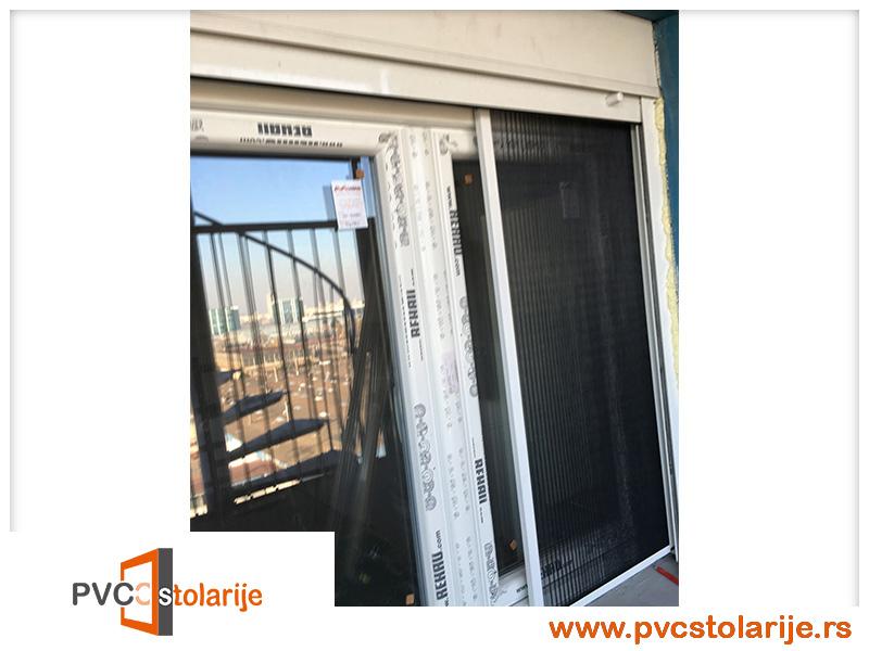 Dvokrilni PVC prozor ugradnja - 140/160, roletna, plise komarnik - rehau ecosol