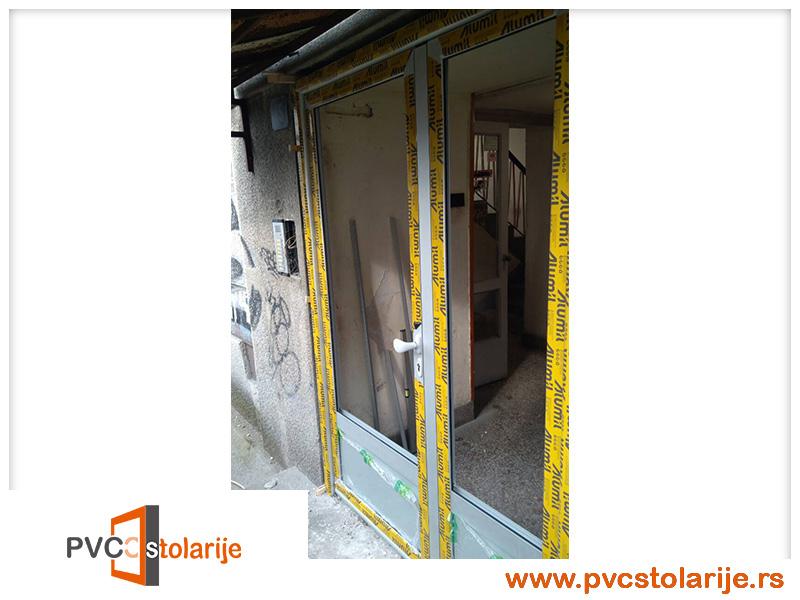 Zamena ulaznih vrata zgrade - PVC stolarije tim
