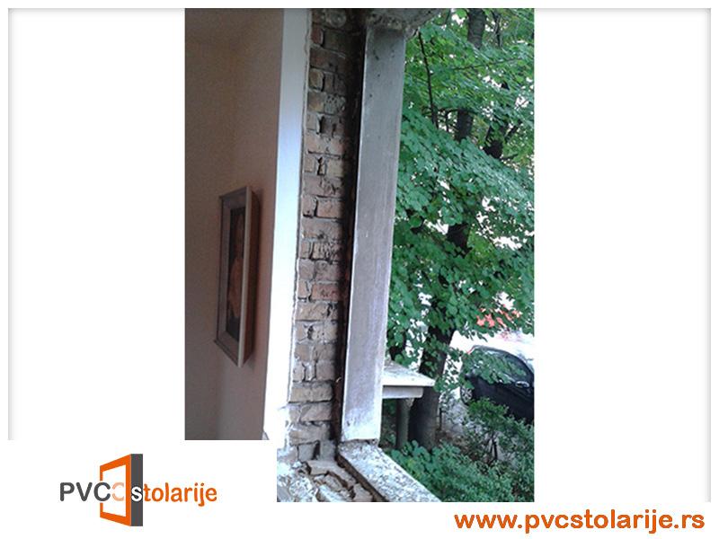 Otvor spreman za montazu novog prozora - Zamena prozora u stanu