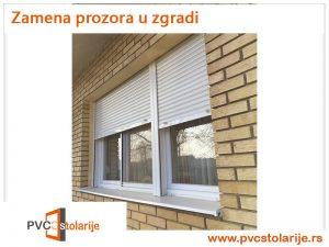 Zamena prozora u zgradi - PVC Stolarije Tim