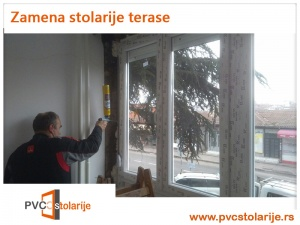 Zamena stolarije terase - PVC Stolarije Tim