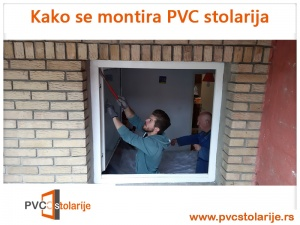 Kako se montira PVC stolarija - skidanje krila