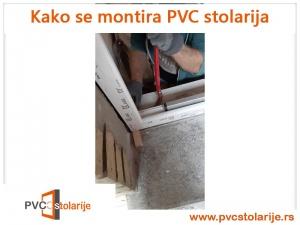 Kako se montira PVC stolarija - postavljanje novog štoka