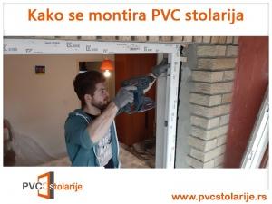 Kako se montira PVC stolarija - bušenje štoka i zida