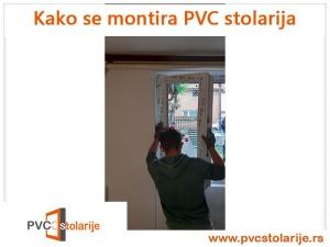 Kako se montira PVC stolarija - montaža krila prozora