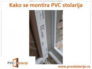 Kako se montira PVC stolarija - postavljanje maskica i kapica