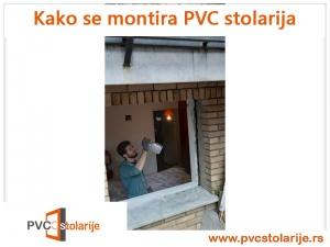 Kako se montira PVC stolarija - prskanje pre nove strolarije i pur pene