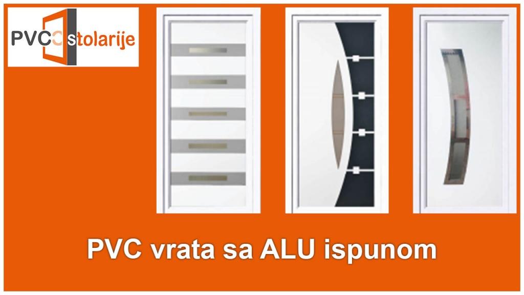 PVC vrata sa ALU ispunom