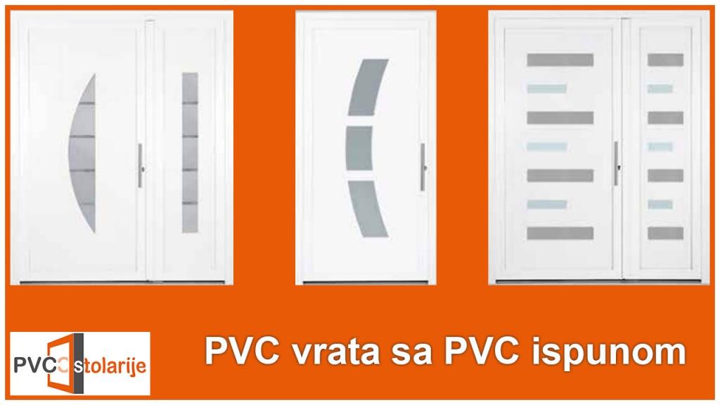 PVC vrata sa PVC ispunom