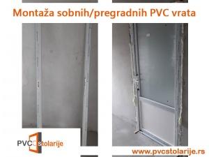 Montaža sobnih/pregradnih PVC vrata