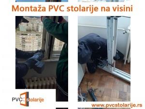 Montaža PVC stolarije na visini
