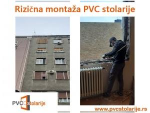 Rizična montaža PVC stolarije