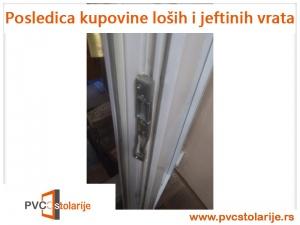 Pucanje PVC vrata